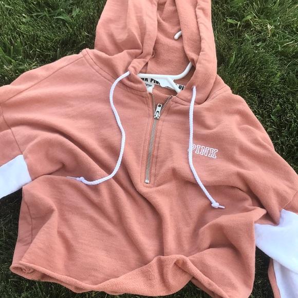 PINK Victoria's Secret Jackets & Blazers - Cropped zip pink sweater